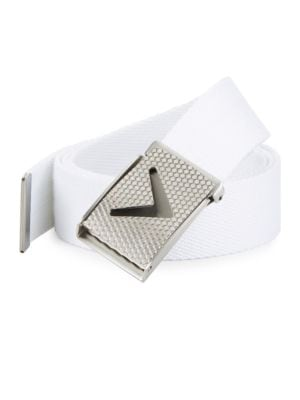 Golf Chevron Buckle Cotton Woven Belt 500088633029