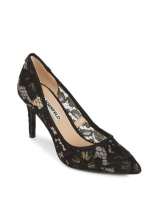 Royale Floral Point Toe Pumps by Karl Lagerfeld Paris