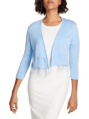 Lace-Hemmed Cardigan by Tommy Hilfiger