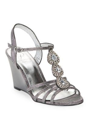 Kristen Rhinestone Wedge Sandals by Adrianna Papell