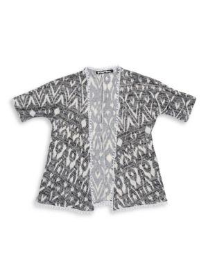 Geometric Knit Cardigan...