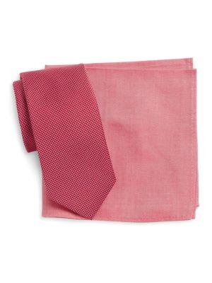 Tie and Pocket Square Set by Tallia Orange