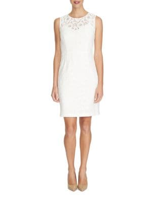 Kennedy Floral Lace Sheath Dress by Cynthia Steffe