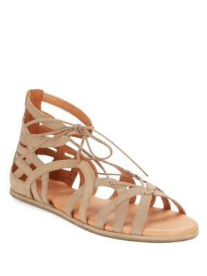 Break My Heart Leather Gladiator Sandals by Gentle Souls