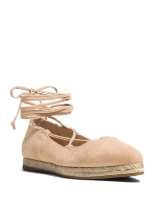 Cadence Suede Lace-Up Espadrille Flats by Michael Kors Collection