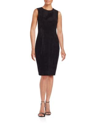 Faux Suede Sheath Dress by Calvin Klein