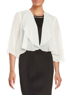 Open-Front Chiffon Topper by Alex Evenings