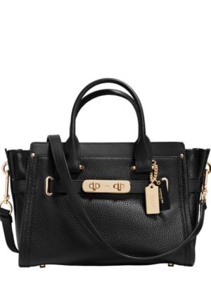 Swagger Pebbled Leather Satchel by COACH