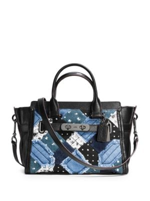 Swagger 27 Canyon Denim Satchel by COACH