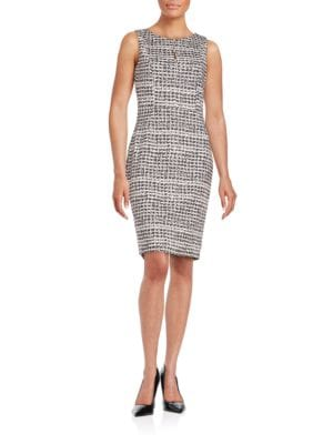 Button-Detailed Sheath Dress by Karl Lagerfeld Paris
