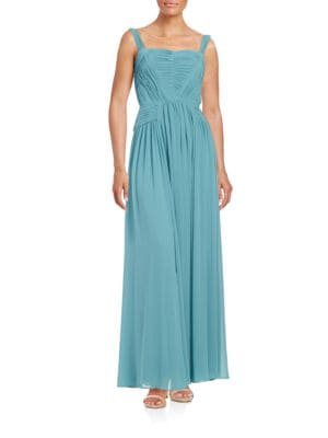 Sleeveless Solid Gown by Vera Wang