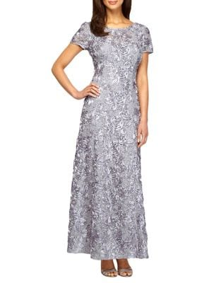 Petite Rosette Shimmer Gown by Alex Evenings
