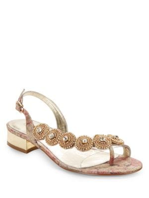 Daisy Rhinestone Sandals by Adrianna Papell