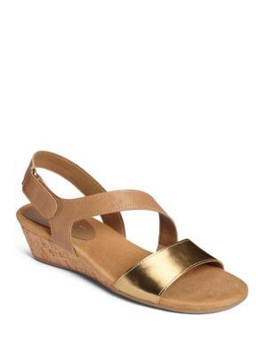 Yetahead Metallic Wedge Sandals by Aerosoles