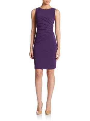 Ponte Sunburst Pleat Dress by Ivanka Trump