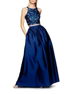 Sequined Top and Ball Gown Skirt Set by Adrianna Papell