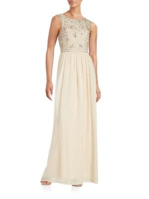 Embellished Crepe Gown by Adrianna Papell