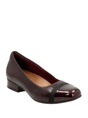 Keesha Rosa Leather Cap Toe Pumps by Clarks