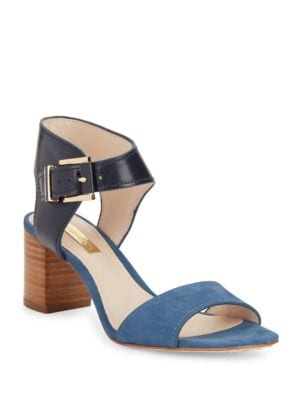 Kapri Leather and Suede Sandals by Louise et Cie
