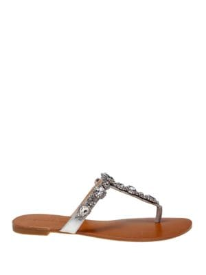 Cliche Metallic Leather Sandals by Badgley Mischka