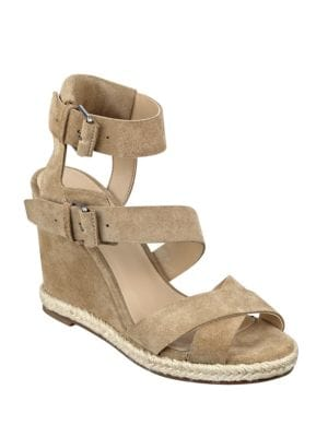 Karla Suede Espadrille Wedge Sandals by Marc Fisher LTD