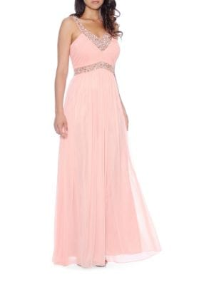 Embellished Chiffon Gown by Xscape