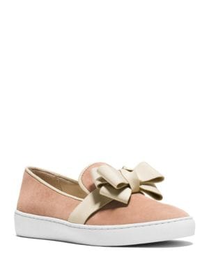 Val Suede Bow Skate Sneakers by Michael Kors Collection