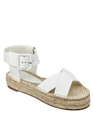 Vienna Leather Espadrille Sandals by Marc Fisher LTD