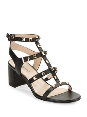Honore Studded Leather Gladiator Sandals by Karl Lagerfeld Paris