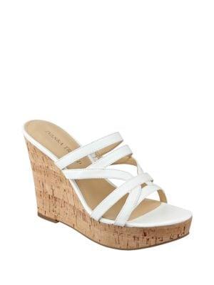 Howen Wedge Platform Leather Slide Sandals by Ivanka Trump