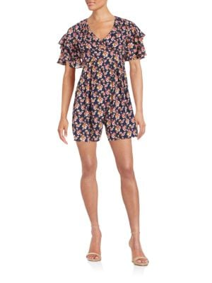 Floral Ruffle Romper by Betsey Johnson