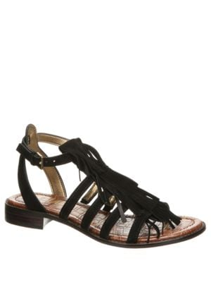 Estelle Fringed Leather Sandals by Sam Edelman