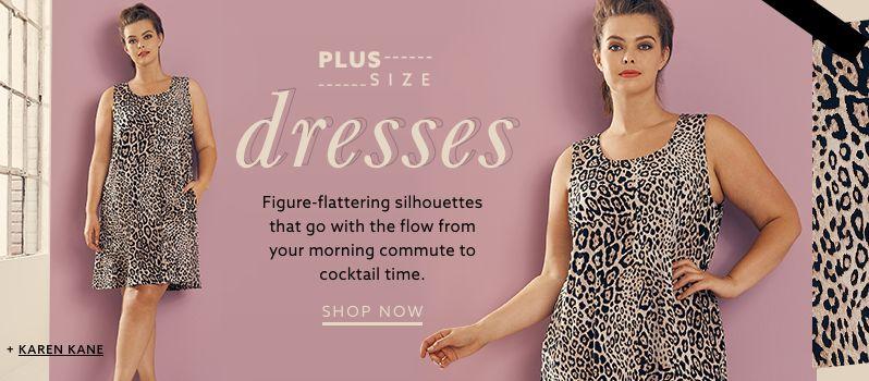 Karen Kane Plus Size Leopard Print Shift Dress With Pockets At Lordandtaylor Com