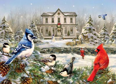 1000 Piece Puzzle (country House Birds) (Home) photo