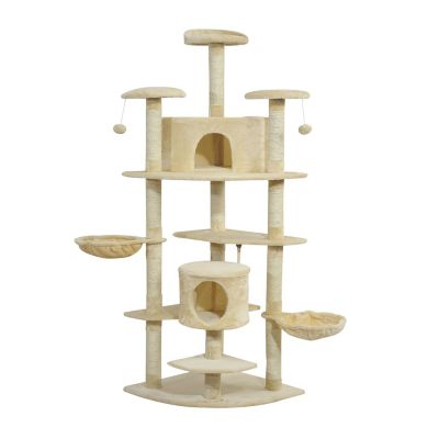 Luxury 79inch Scratching Cat Tree Kitty Condo Multi Level (Home) photo