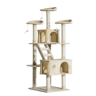 71inch Scratching Cat Tree Kitty Condo Multi Level Play (Home) photo