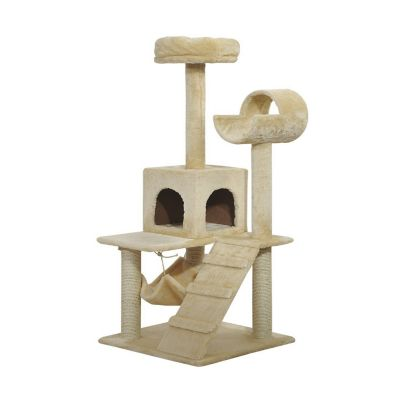 Luxury 52inch Cat Scratching Tree Condo Pet Bed Furniture (Home) photo