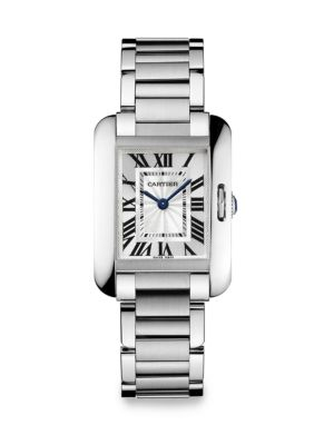 Tank Anglaise Small Stainless Steel Bracelet Watch