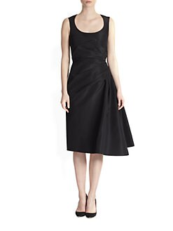 Carolina Herrera - Silk Faille Cocktail Dress