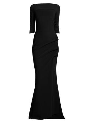 LA PETITE ROBE DI CHIARA BONI Kate Slit-Detail Boatneck Gown
