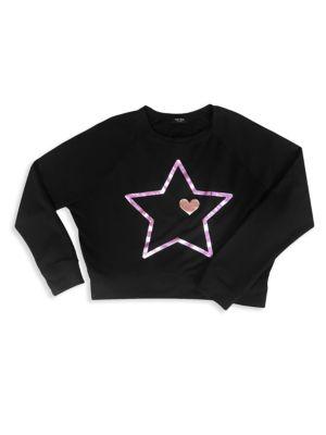 Little Girl's & Girl's Star Print Pullover