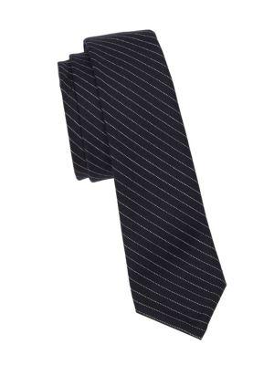 Classic Pinstripe Wool Tie