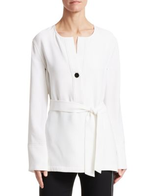 Belted Silk Georgette Blouse
