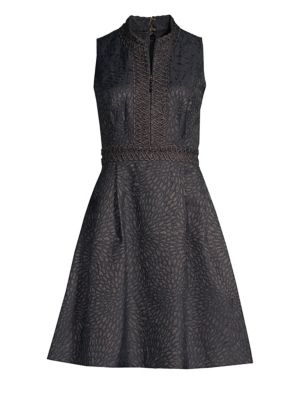 LILLY PULITZER Franci Metallic Jacquard Dress in Onyx