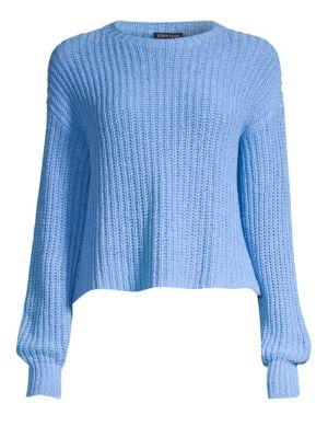 Organic Cotton Scoop-Neck Sweater, Regular & Petite in Bluebird