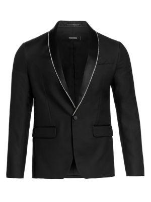 Crystal Border Tuxedo Jacket