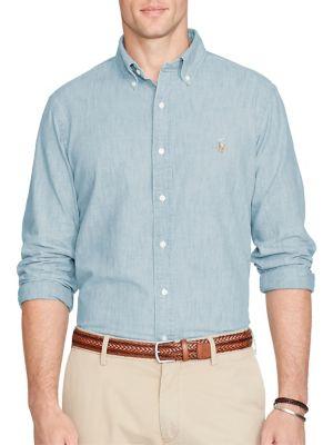Classic-Fit Chambray Shirt