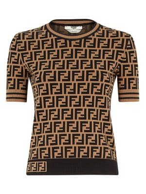 Allover Logo Pullover Knit Sweater