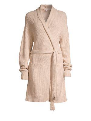 Fiona Knit Cotton Wrap Robe