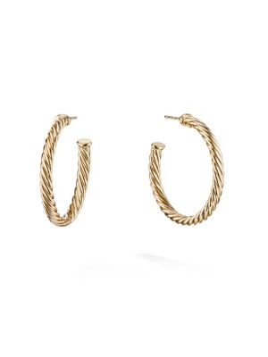 Cable Spira 18K Yellow Gold Hoop Earrings
